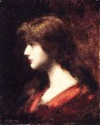 Jean-Jacques Henner Head of a Girl china oil painting reproduction