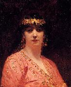 Jean-Joseph Benjamin-Constant Portrait of an Arab Woman china oil painting reproduction