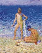 John Peter Russell Boys on the Beach, Belle lle oil painting picture wholesale