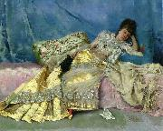 Julius LeBlanc Stewart Lady on a Pink Divan china oil painting reproduction
