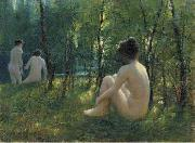 Lionel Walden The Bathers, oil painting by Lionel Walden, china oil painting reproduction