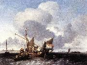 Ludolf Bakhuizen Ships on the Zuiderzee before the Fort of Naarden china oil painting reproduction
