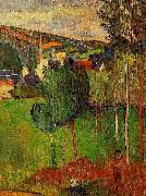 Paul Gauguin View of Pont-Aven from Lezaven oil painting picture wholesale