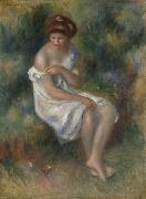 Pierre Auguste Renoir Seated Girl in Landscape china oil painting reproduction