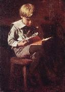 Thomas Pollock Anshutz Boy Reading: Ned Anshutz china oil painting reproduction