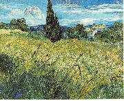 Vincent Van Gogh Green Wheat Field with Cypress oil painting picture wholesale