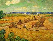 Vincent Van Gogh Wheatfield with sheaves and reapers oil painting picture wholesale