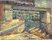 Vincent Van Gogh Bridges across the Seine at Asnieres oil painting picture wholesale