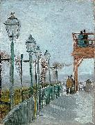 Vincent Van Gogh Terrace and Observation Deck at the Moulin de Blute-Fin, Montmartre oil painting picture wholesale