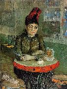 Vincent Van Gogh Agostina Segatori Sitting in the Cafe du Tamourin china oil painting reproduction