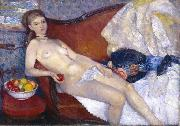 William Glackens Nude with Apple oil painting picture wholesale