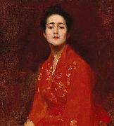 William Merrit Chase Study of a Girl in Japanese Dress china oil painting reproduction