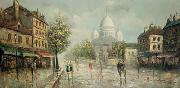 marie kroyer Montmartre sous la pluie china oil painting reproduction