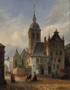 unknow artist On the sunlit church square china oil painting reproduction