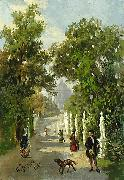 unknow artist Spaziergang auf der Allee im Park china oil painting reproduction