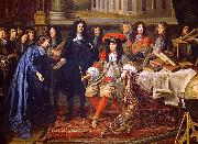 unknow artist Colbert Presenting the Members of the Royal Academy of Sciences to Louis XIV in 1667 china oil painting reproduction