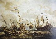 Abraham Storck Four Days Battle, 1-4 June 1666 oil