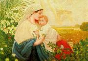 Adolf Hitler Mother Mary with the Holy Child Jesus Christ oil