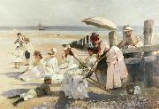 Alexander Mann Shores of Bognor Regis oil