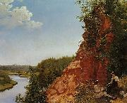Alexey Tyranov View of the River Tosno oil