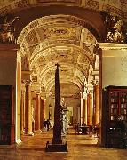 Alexey Tyranov View on the Hermitage Library oil