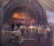 Alfons Mucha The Bohemian King Premysl Otakar II: The Union of Slavic Dynasties oil