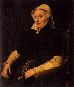Anthonis Mor Portrait of Anne Fernely oil
