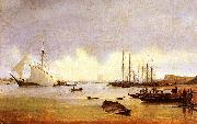 Anton Ivanov Fishing Vessels off a Jetty oil
