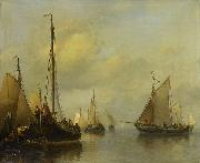 Antonie Waldorp Fishing Boats on Calm Water oil