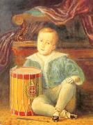Armand Palliere Pedro II of Brazil, aged 4 oil