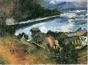 Lovis Corinth Walchensee bei Mondschein oil painting picture wholesale