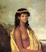 Robert Dampier 'Tetuppa, a Native Female of the Sandwich Islands' oil painting picture wholesale