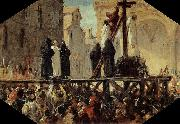 Stefano Ussi The Execution of Savonarola oil painting picture wholesale