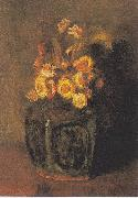 Vincent Van Gogh Ginger Pot with chrysanthemums oil painting picture wholesale