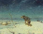 Alfred de Dreux The lone Wolf oil painting picture wholesale