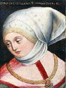 Antoni Boys Portrait of Archduchess Cymburgis of Masovia oil