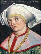 Antoni Boys Portrait of Queen Jadwiga of Anjou oil