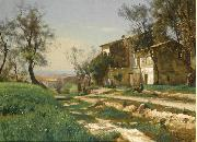 Antonio Mancini The outskirts of Nice oil painting picture wholesale