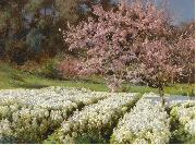 Antonio Mancini Spring blossom oil painting picture wholesale