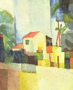 August Macke Helles Haus oil painting picture wholesale