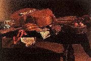 Evaristo Baschenis Musical Instruments oil painting picture wholesale
