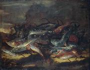 Giuseppe Recco Still-life with fish. oil painting picture wholesale