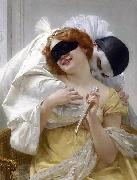 Guillaume Seignac Pierrot's embrace oil painting picture wholesale