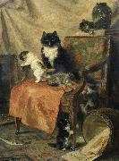 Henrietta Ronner-Knip Kittens at play oil painting picture wholesale