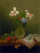 Martin Johnson Heade A Vase of Corn Lilies and Heliotrope oil painting picture wholesale