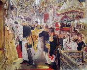 Valentin Serov Coronation of Tsar Nicholas II of Russia oil painting picture wholesale
