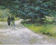 Vincent Van Gogh Couple in the Park at Arles oil painting picture wholesale