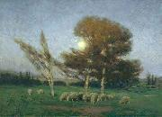 William Bromley Early Moonrise in September oil painting picture wholesale
