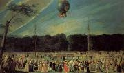 Antonio Carnicero The  Ascent of a Montgolfier Balloon oil