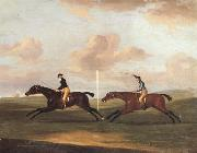 Francis Sartorius The Race For The King's Plate at Newmarket,6th May 1797,Won By 'Tottenridge' china oil painting reproduction